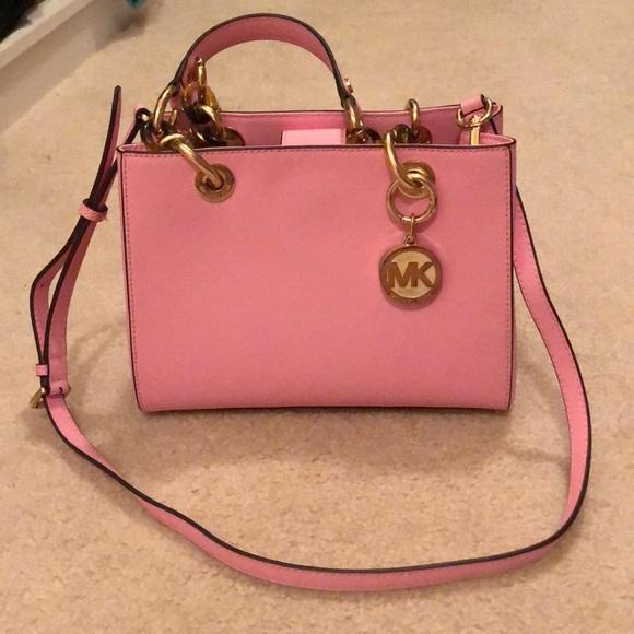 Michael Kors Bags   Mk Pink Crossbody   Poshmark 6fee402212